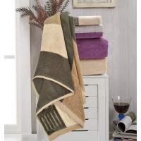 YNester 3 Pack 100% Cotton Towel Sets, Natural Eco Luxury Stripe Super Soft Cotton